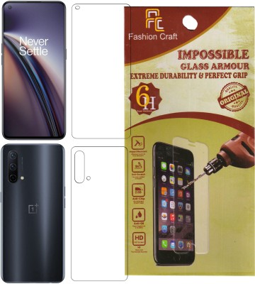 FashionCraft Front and Back Screen Guard for OnePlus Nord CE 5G(Pack of 2)