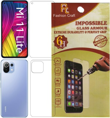FashionCraft Front and Back Screen Guard for Mi 11 Lite(Pack of 2)