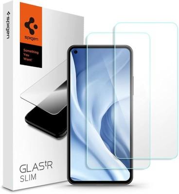 Spigen Tempered Glass Guard for Mi 11 Lite(Pack of 2)