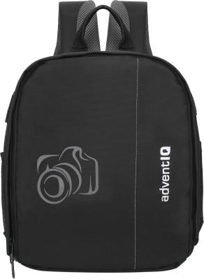 AdventIQ DSLR/SLR Camera Lens Shoulder Printed Backpack-(BNP 0197P-Camera 2)-Grey Clr Camera Bag(Black with Grey Print)