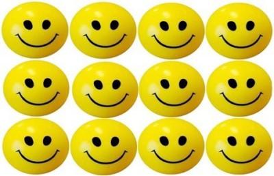 GIKAY Smiley Balls Set of 12 Pieces   3 inch Yellow GIKAY Soft Toys