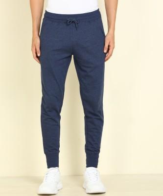 PETER ENGLAND Solid Men Dark Blue Track Pants