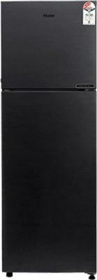 Haier 258 L Frost Free Double Door Top Mount 2 Star Convertible Refrigerator(BRUSHLINE BLACK, HRF-2783-BKS-E)