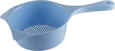 POLYSET Polyset Plastic Rice, Fruits, Vegetable, Noodles, Pasta Washing and Strainer for Storing and Straining Premium Colander Strainer Big – Blue Strainer(Blue Pack of 1)