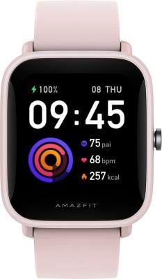 Amazfit Bip U Pro Smartwatch(Pink Strap, Regular)