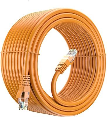Fedus 20 Meter Cat6 Ethernet Cable Orange, BUSOHE Cat 6 Flat RJ45 Computer Internet LAN Network Ethernet Patch Cable Cord 20 m LAN Cable  Compatible w