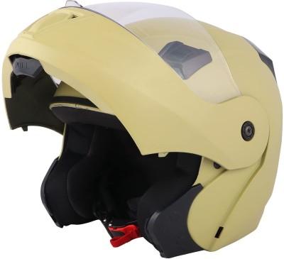 O2 PROX Full Face Flip Up with Scratch Resistant Clear Visor & Cross Ventilation Motorbike Helmet(Desert Storm)