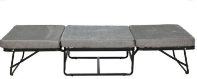 Krini Metal Single NA Bed(Finish Color - Grey, (Mattress Included), Delivery Condition - Pre-assembled)