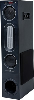 KRISONS Cloud Buster Speaker | Bluetooth Supporting Tower | USB, AUX, LCD Display, Built-in FM 90 W Bluetooth Tower Speaker(Black,...