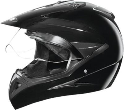 STUDDS MOTOCROSS WITH VISOR OFF ROAD SPORTS HELMET Motorbike Helmet(Black)