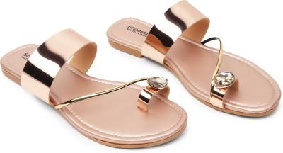 Shoestail Women Gold Flats