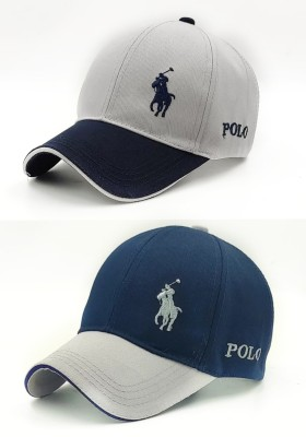Polo Embroidered Baseball Caps , Sports Polo cap, free size Adjustable Cap(Pack of 2)