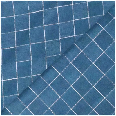 Kultura Poly Viscose Checkered Trouser Fabric(Unstitched)