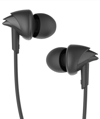 boAt Bassheads 100 Wired Headset(Black, In the Ear)