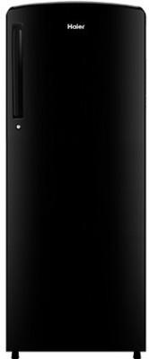 Haier 242 L Direct Cool Single Door 3 Star Refrigerator(BrushlineBlack, HRD-2423BKS-E)