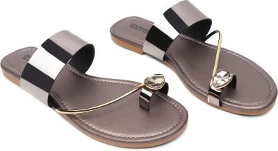 Shoestail Women Grey Flats