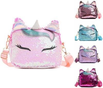sanjis Multicolor Sling Bag Women Shiny Sequin Messenger Bag Girls Cute Uneecorn Glitter Sequins Adjustable Crossbody Purses Handbag Shoulder Bag...