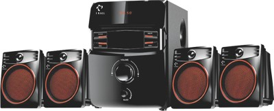 I Kall IK 407Multimedia 4.1 Speaker System with Bluetooth, Aux, USB, FM Connectivity 60 W Bluetooth Home Theatre(Black, 4.1 Channel)