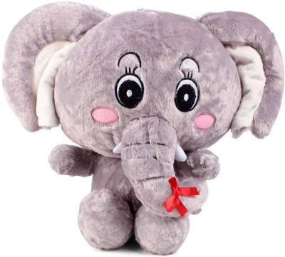 Tickles Sweet Big Ear Elephant   30 cm Grey Tickles Soft Toys