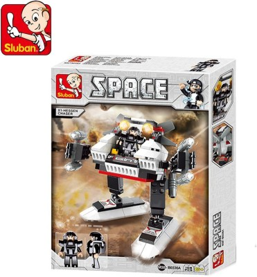 Sluban Lego X1 Hessen Chaser, Multi Colour Multicolor Sluban Blocks   Building Sets