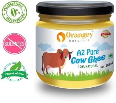 Orangey Naturals Organic Hand churned Desi Cow A 2 Ghee 260 ml in Glass Bottle Ghee 260 ml Glass Bottle