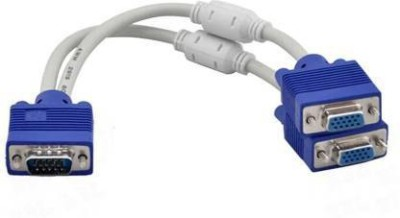 digifloor VGA Y SPLITTER CABLE 0.15 m VGA Cable Compatible with COMPUTERS, Multicolor, One Cable digifloor Cables