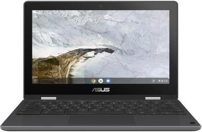 ASUS Chromebook Flip Celeron Dual Core - (4 GB/64 GB EMMC Storage/Chrome OS) C214MA-BU0452 2 in 1 Laptop(11.6 inch, Dark...