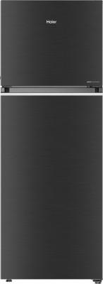 Haier 345 L Frost Free Double Door 3 Star Convertible Refrigerator(Black Brushline, HEF-35TKS)