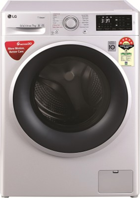 LG 7 kg Fully Automatic Front Load with In-built Heater Silver(FHT1207ZNL)