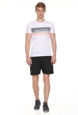On-Vers Printed Men Round Neck White T-Shirt