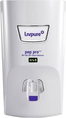 LIVPURE LIV-PEP-PRO-PLUS+ 7 L RO + UV + UF Water Purifier with Taste Enhancer(White)