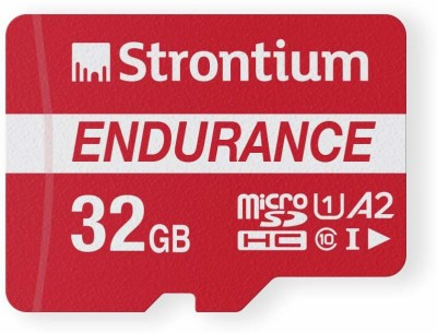 Strontium Nitro Plus Endurance A2 32 GB MicroSDXC Class 10 100 MB/s Memory Card(With Adapter)