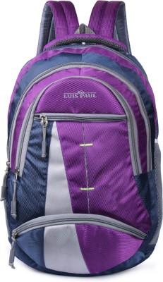 LUIS PAUL LUISPAULZA158 WATERPROOF LUCKY NEW STYLIST BAGS FOR MEN & WOMEN (FOR SCHOOL AND COLLEGE & TRAVELING) Waterproof Backpack(Purple,...