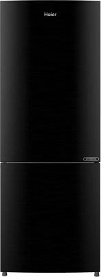 Haier 256 L Frost Free Double Door Bottom Mount 2 Star Refrigerator(BrushlineBlack, HRB-2763BKS-E)