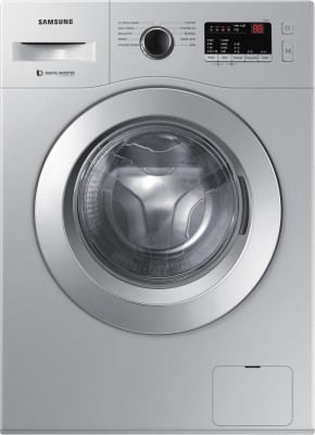 SAMSUNG 6.5 kg Fully Automatic Front Load with In-built Heater Silver(WW65R20GLSS/TL)