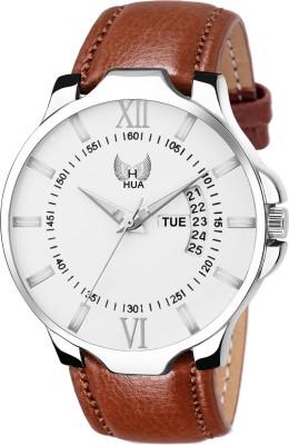 HUA FASHION HF 0226 WH   BR New Day   Date Analog Watch   For Men HUA FASHION Wrist Watches