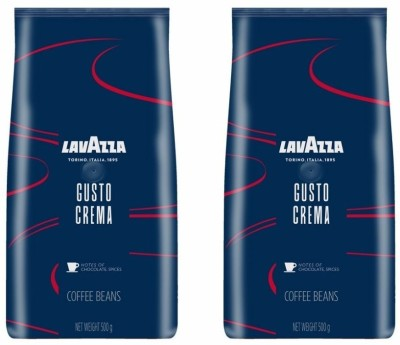 Lavazza Gusto Crema Pack of 2 Coffee Beans(2 x 500 g)