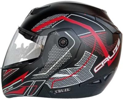 SagarTech Smart Bluetooth RWDOT Cruze Graphic FlipUp (580MM) Motorsports Helmet(RED WHITE)