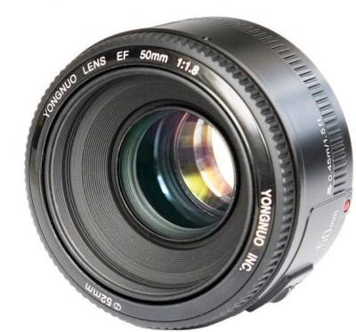 Yongnuo 50mm f1.8 Canon Lens(Black, 50) 1