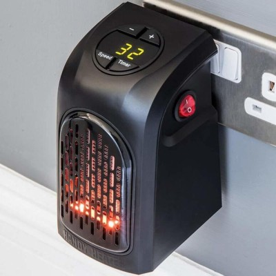 MOKSHARTH Wall-Outlet 400 Watts Electric Handy Room Heater (Room Heaters Home for Bedroom, Reading books, Work, bathrooms, Rooms, Offices, Home Offices, Campers, Work Spaces and More. Halogen Room Heater