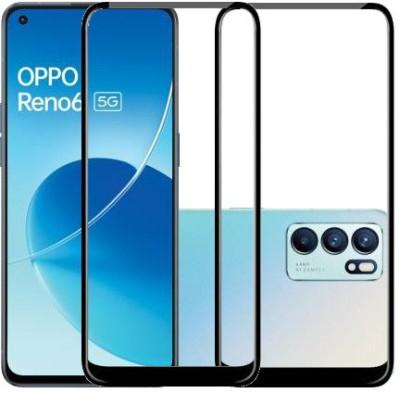 HOBBYTRONICS Edge To Edge Tempered Glass for OPPO RENO6, OPPO RENO6 5G(Pack of 2)