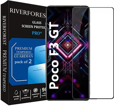 RiverForest Edge To Edge Tempered Glass for Poco F3 GT(Pack of 2)