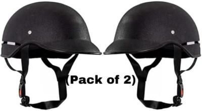 FOROLY Wrinkle mini unisex Combo Motorbike Helmet(Black)
