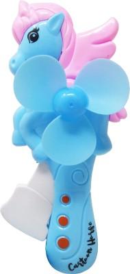 Parteet Unicorn Portable Hand Crank Mini Toy Fan Without Battery