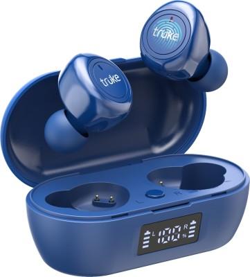 Truke Fit 1+ with Gaming Mode Bluetooth Headset(Blue, True Wireless)