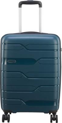 ARISTOCRAT WAVE STROLLY 360 CABIN DARK GREEN Cabin Luggage   22 inch ARISTOCRAT Suitcases