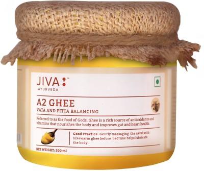 Jiva A2 Gir Cow Ghee - Pure Desi Ghee - Pack of 1 Ghee 300 ml Mason Jar