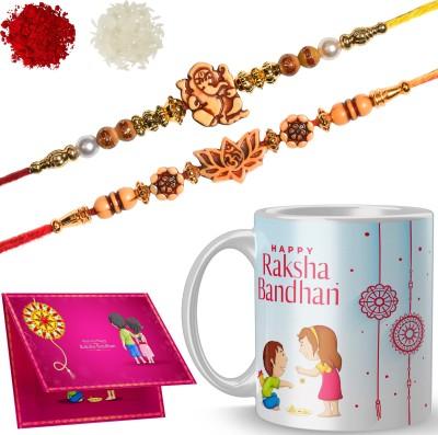 RS CASE Rakhi, Chawal Roli Pack, Greeting Card, Mug Set(2 Rakhi, 1 Mug, 1 Roli & Chawal, 1 Card)