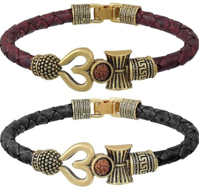 Collection Route Leather Beads Bracelet(Pack of 2)