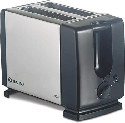 BAJAJ by BAJAJ ATX3 750 W Pop Up Toaster(Silver and black)